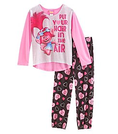 DreamWorks Trolls Girls' 4-10 Trolls Hair In The Air Pajamas