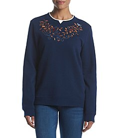 Breckenridge Petites' Fleece Crewneck Top
