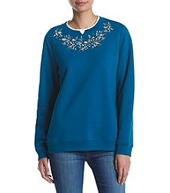 Breckenridge® Petites' Fleece Crewneck Top