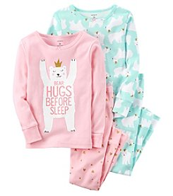 Carter's Girls' 12M-12 4 Piece Bear Hugs Pajama Set