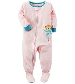 Carter's Baby Girls' 12M-24M Princess Monkey Fleece Pajamas