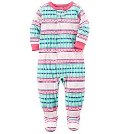 Carter's Girls' 12M-14 One Piece Fair Isle Pajamas