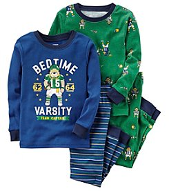 Carter's Boys' 12M-12 4 Piece Varsity Football Pajamas Set