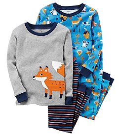 Carter's Boys' 12M-12 4 Piece Fox Pajamas Set