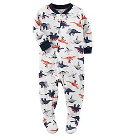 Carter's Boys' 12M-12 One Piece Dino Fleece Pajamas