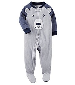 Carter's Boys' 12M-4T Blue Bear Face Fleece Pajamas