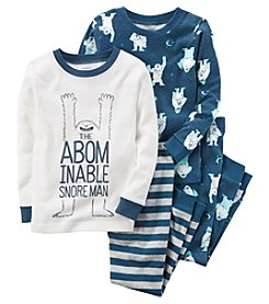 Carter's Boys' 12M-10 4 Piece Abominable Snore Man Pajama Set