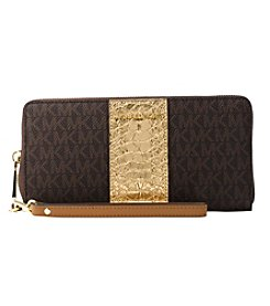 MICHAEL Michael Kors Center Stripe Travel Continental Zip Wallet