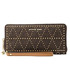 MICHAEL Michael Kors Studded Travel Continental Zip Wallet