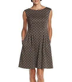 Jessica Howard Black Gold Lurex Dress