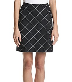 Jones New York Windowpane Skirt