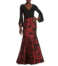 Xscape Bell Sleeve Gown