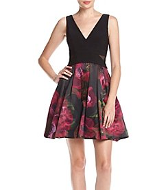 Xscape Floral Party Dress