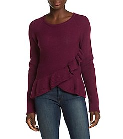 Ivanka Trump Asymmetrical Ruffle Sweater