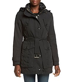GUESS Belted Button Detail Anorak Coat