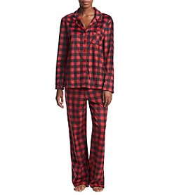 KN Karen Neuburger Missy Printed Fleece Pajamas