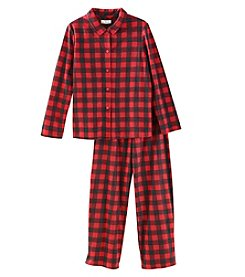 KN Karen Neuburger Kids' Buffalo Plaid Pajamas Set