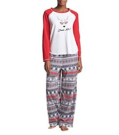 KN Karen Neuburger Fleece Combo Deer Me Pajama Set