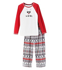 KN Karen Neuburger Fleece Combo Snow Way Pajama Set