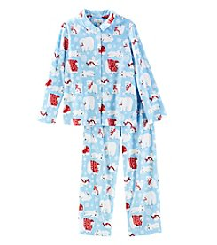 KN Karen Neuburger Kids' Fleece Polar Bear Pajama Set