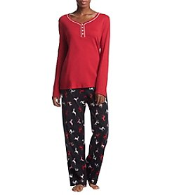 Intimate Essentials Knit Pajama Set