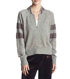 Juicy Couture Lurex Sweater Jacket