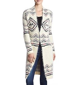 Sequin Hearts Aztec Eyelash Cardigan
