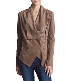 Vigoss Lightweight Drapey Vegan Suede Jacket