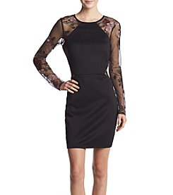 A. Byer Embroidery Waist Bodycon Dress