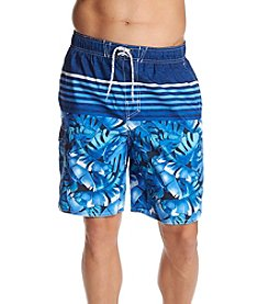 Paradise Collection Men's Leaf Print Swim Trunks