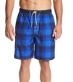Paradise Collection Men's Plaid Swim Trunks