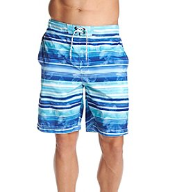 Paradise Collection Men's Watercolor Stripe Swim Trunks