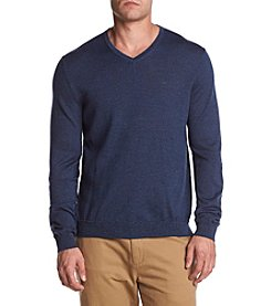 Calvin Klein Men's Solid Merino V Neck Sweater