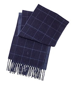 Polo Ralph Lauren Reversible Windowpane Scarf