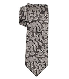 Nick Graham Men's Textured Leaves Silk Tie