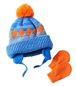 Statements Baby Boys' Beanie And Mittens Set