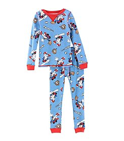Cuddl Duds Boys' 2T-5T Mickey MouseTop And Pants Pajama Set