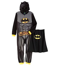 Batman Boys' 4-12 Batman Blanket Sleeper With Cape