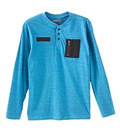 Distortion Boys' 8-20 Long Sleeve Knit Henley Tee