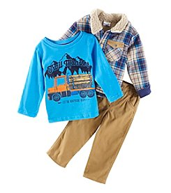 Nannette Boys' 2T-4T 3 Piece Trail Monster Shirt And Jacket Set