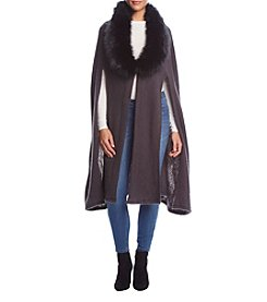 Cejon Brushed Cape With Buttons
