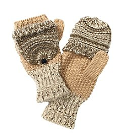 Ruff Hewn Mixed Media Flip Gloves