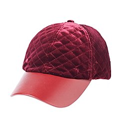Collection 18 Quilted Velvet Baseball Hat