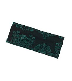 Twig & Arrow Accessories Embossed Floral Velvet Headwrap