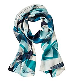 Collection 18 Glacier Paint Slash Oblong Scarf