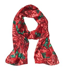 Collection 18 Painted Poinsettia Scarf