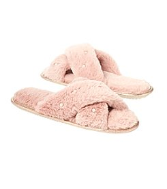 Collection 18 Criss Cros Fur Slippers