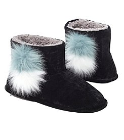 Cuddl Duds Velvet Slipper Booties