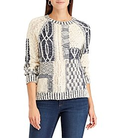 Chaps Patchwork Sweater