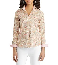 Chaps Paisley Printed Top